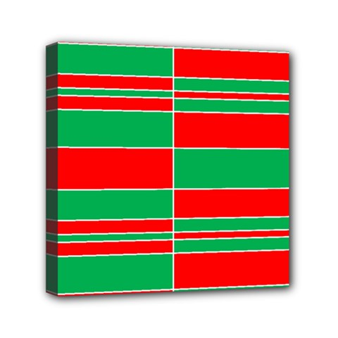 Christmas Colors Red Green Mini Canvas 6  X 6