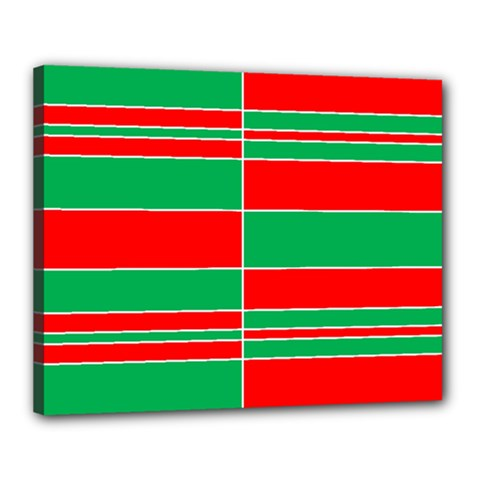 Christmas Colors Red Green Canvas 20  x 16
