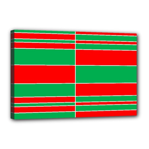 Christmas Colors Red Green Canvas 18  x 12