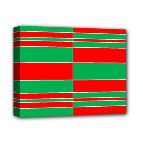 Christmas Colors Red Green Deluxe Canvas 14  x 11