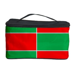 Christmas Colors Red Green Cosmetic Storage Case