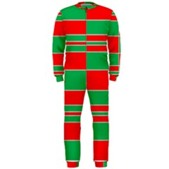 Christmas Colors Red Green OnePiece Jumpsuit (Men)