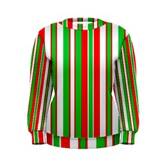 Christmas Holiday Stripes Red green,white Women s Sweatshirt
