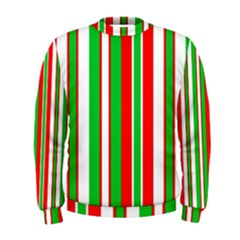 Christmas Holiday Stripes Red green,white Men s Sweatshirt