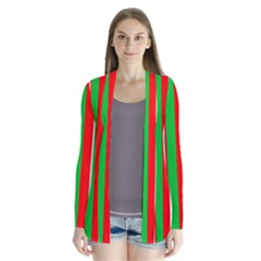 Christmas Holiday Stripes Red Green,white Cardigans
