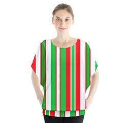 Christmas Holiday Stripes Red green,white Blouse