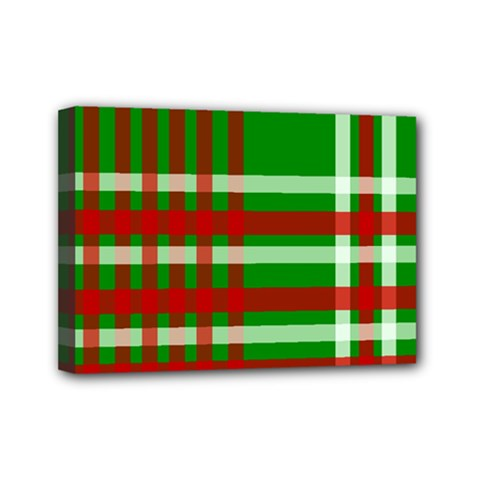 Christmas Colors Red Green White Mini Canvas 7  x 5