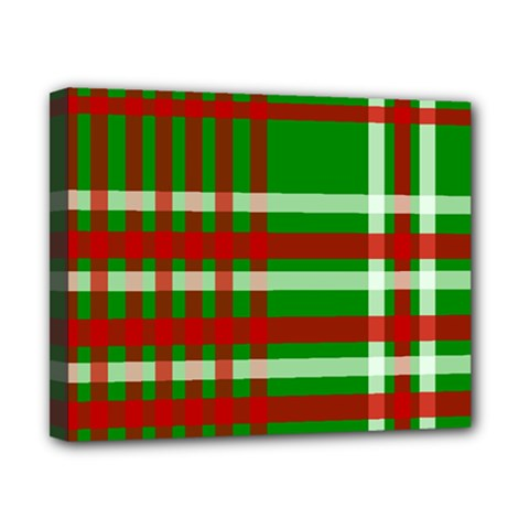 Christmas Colors Red Green White Canvas 10  x 8