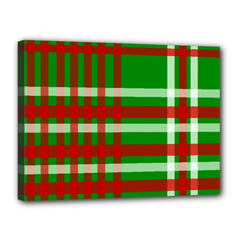 Christmas Colors Red Green White Canvas 16  X 12