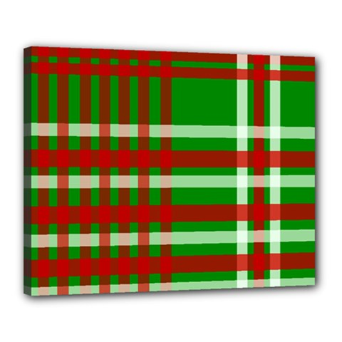 Christmas Colors Red Green White Canvas 20  x 16