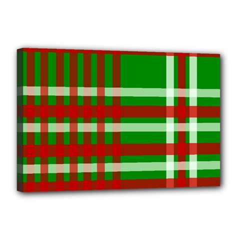 Christmas Colors Red Green White Canvas 18  x 12