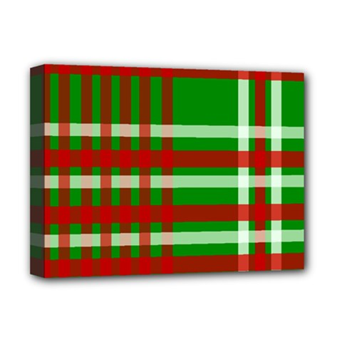 Christmas Colors Red Green White Deluxe Canvas 16  X 12