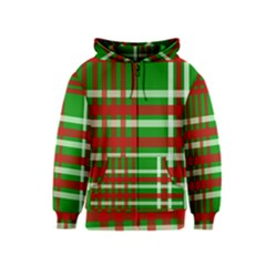 Christmas Colors Red Green White Kids  Zipper Hoodie