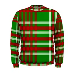 Christmas Colors Red Green White Men s Sweatshirt