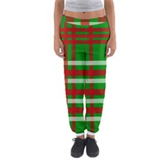 Christmas Colors Red Green White Women s Jogger Sweatpants