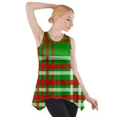 Christmas Colors Red Green White Side Drop Tank Tunic