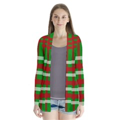 Christmas Colors Red Green White Cardigans