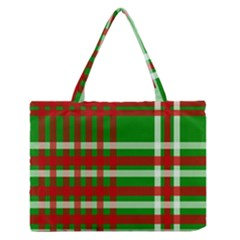 Christmas Colors Red Green White Medium Zipper Tote Bag