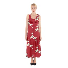 Christmas Card Christmas Card Sleeveless Maxi Dress