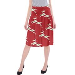 Christmas Card Christmas Card Midi Beach Skirt