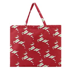 Christmas Card Christmas Card Zipper Large Tote Bag