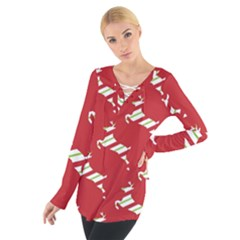 Christmas Card Christmas Card Women s Tie Up Tee