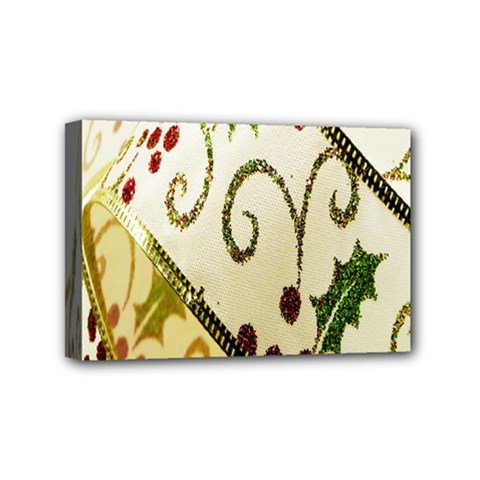 Christmas Ribbon Background Mini Canvas 6  x 4