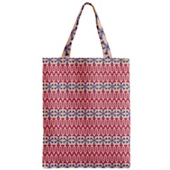 Christmas Pattern Vintage Zipper Classic Tote Bag