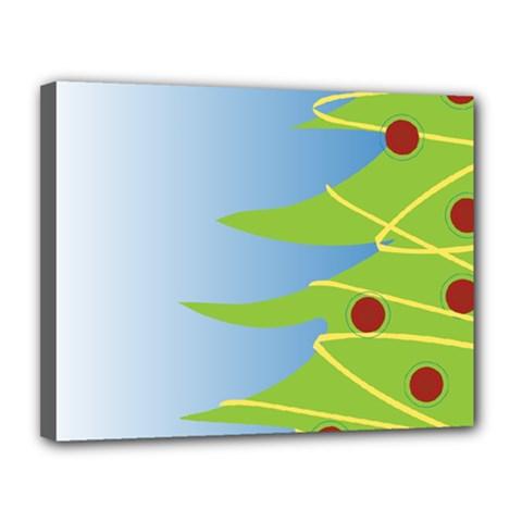 Christmas Tree Christmas Canvas 14  x 11