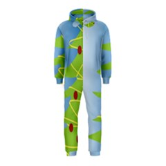 Christmas Tree Christmas Hooded Jumpsuit (Kids)