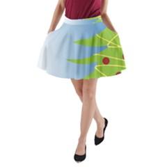 Christmas Tree Christmas A-Line Pocket Skirt