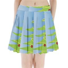 Christmas Tree Christmas Pleated Mini Skirt