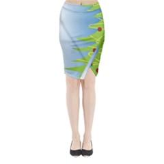 Christmas Tree Christmas Midi Wrap Pencil Skirt