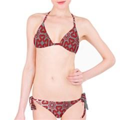 Christmas Wrap Pattern Bikini Set