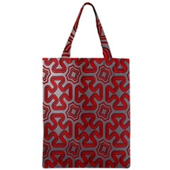 Christmas Wrap Pattern Zipper Classic Tote Bag