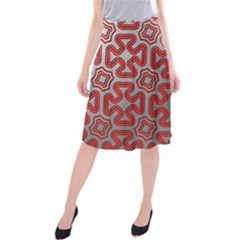 Christmas Wrap Pattern Midi Beach Skirt