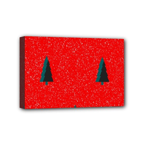 Christmas Time Fir Trees Mini Canvas 6  x 4