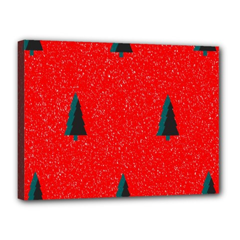 Christmas Time Fir Trees Canvas 16  x 12