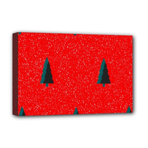 Christmas Time Fir Trees Deluxe Canvas 18  x 12
