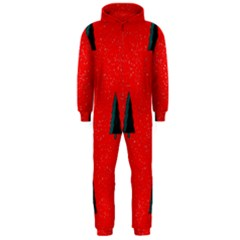 Christmas Time Fir Trees Hooded Jumpsuit (Men)