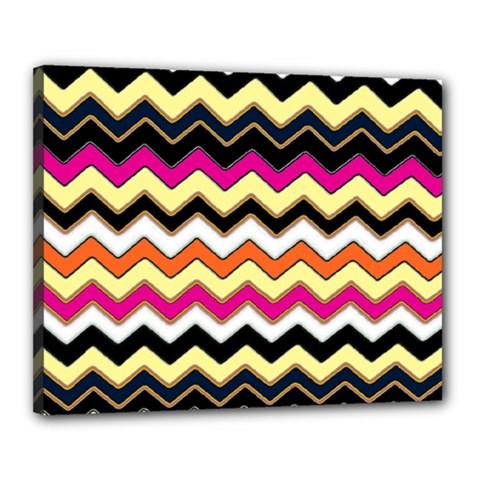 Colorful Chevron Pattern Stripes Canvas 20  x 16