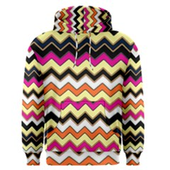 Colorful Chevron Pattern Stripes Men s Pullover Hoodie