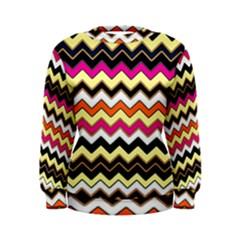 Colorful Chevron Pattern Stripes Women s Sweatshirt