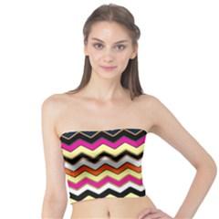 Colorful Chevron Pattern Stripes Tube Top