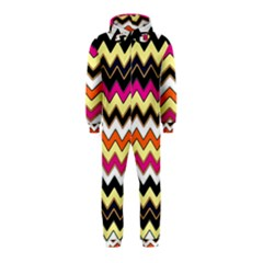 Colorful Chevron Pattern Stripes Hooded Jumpsuit (Kids)