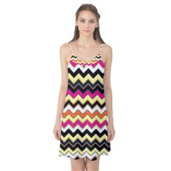 Colorful Chevron Pattern Stripes Camis Nightgown