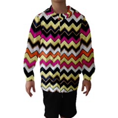 Colorful Chevron Pattern Stripes Hooded Wind Breaker (Kids)