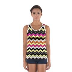 Colorful Chevron Pattern Stripes Women s Sport Tank Top