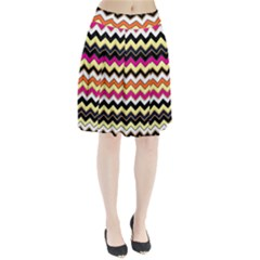 Colorful Chevron Pattern Stripes Pleated Skirt