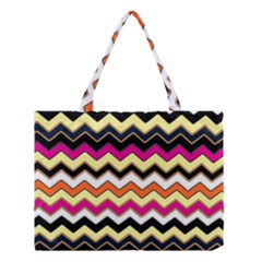 Colorful Chevron Pattern Stripes Medium Tote Bag